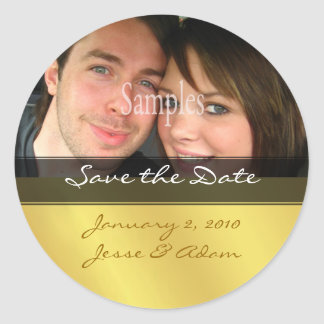 Save the date photo stickers