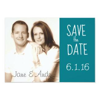 "Save the Date Photo Wedding Card 5"" X 7"" Invitation Card"