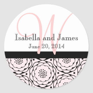 Save the Date Pink Flowers Wedding Sticker