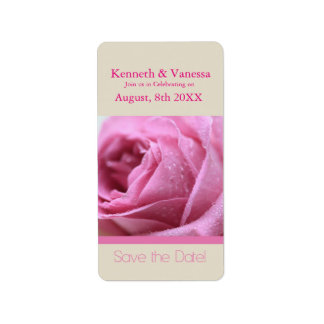 Save the Date pink rose