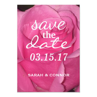 SAVE THE DATE/ Pink Rose Card