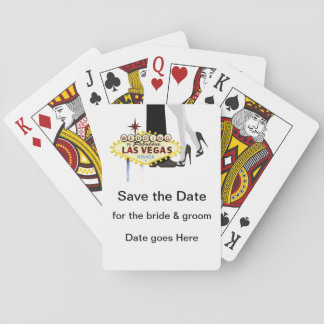 Save the Date Playing Cards, Standard Index faces Playing Cards