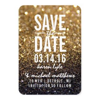 "Save the Date/Postcard - Gold Lit Nite 3.5"" X 5"" Invitation Card"