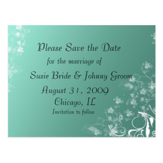 Save the Date Postcard with Photo Template