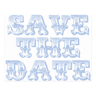 Save the Date Postcards in Pale Blue