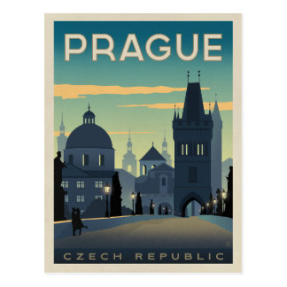 Save the Date | Prague, Czech Republic Postcard