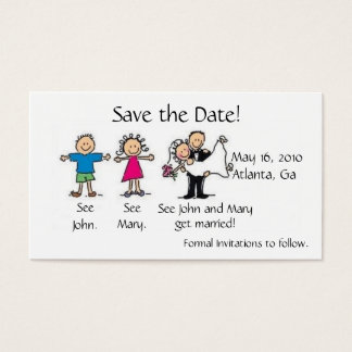 Save the Date Profile Card