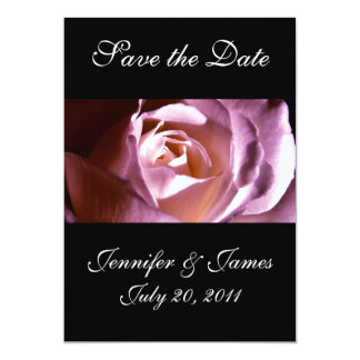 Save the Date Purple Rose Wedding Announcement