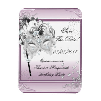 Save The Date Quinceanera Sweet 16 Masquerade Magnet