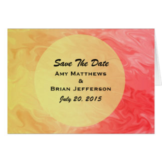 Save the Date Red Yellow Texture Greeting Card