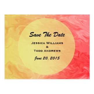 Save the Date Red Yellow Texture Postcard