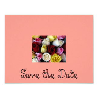 Save the Date-Rose bouquet Card