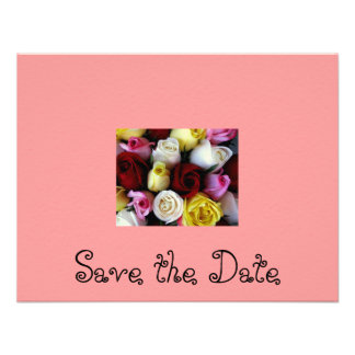Save the Date-Rose bouquet Custom Invitation
