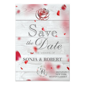 Save the Date - Rose Petals Card