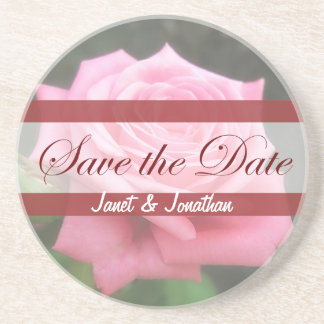 Save the date Roses Drink Coasters