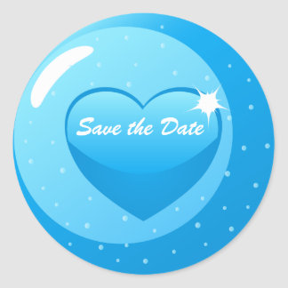 Save the Date Round Stickers