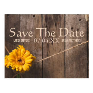 Save the Date Rustic Postcard