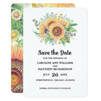 Save the Date. Rustic Wedding Announcements