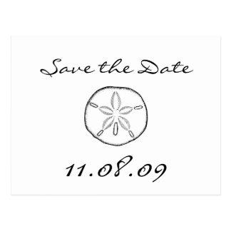 Save the Date sand dollar Postcard