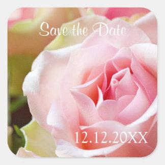 Save the Date Seals Square Sticker