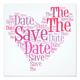 Save the date - shades of pink card