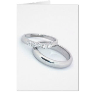Save the Date/Silver Wedding Bands Card