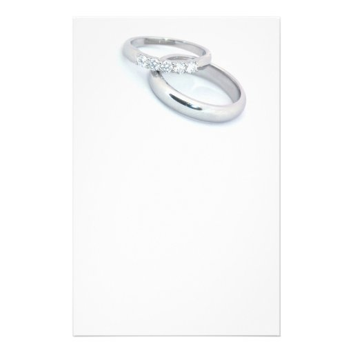 Save the Date/Silver Wedding Bands Custom Stationery