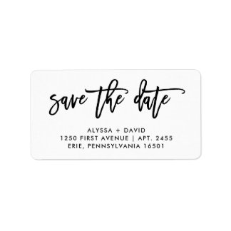 Save the Date | Simple Modern Typography Label