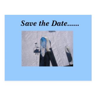 Save the Date......Ski Love Postcard