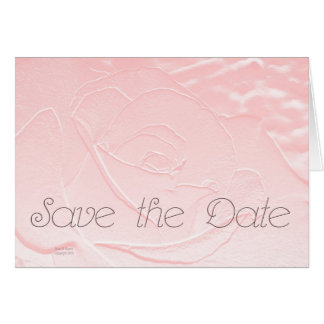 Save the Date Soft Pink Rose Cards