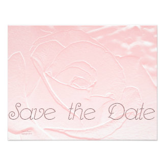 Save the Date Soft Pink Rose Personalized Announcements