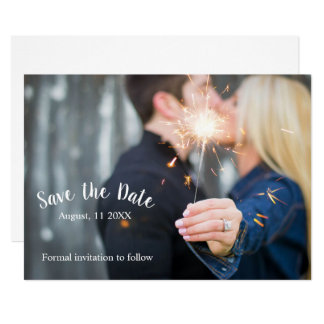 Save the Date - Sparkler Card