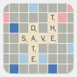 Save The Date Square Sticker