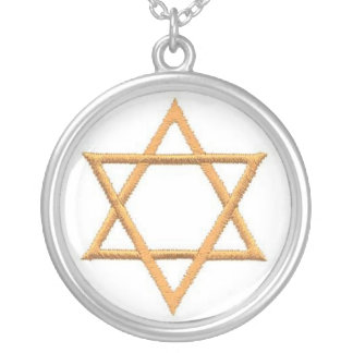 Save the Date/Star of David Gifts Round Pendant Necklace