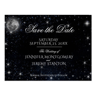 Save the Date Starry Night Postcard