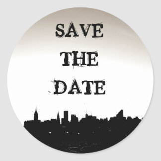 Save the Date Sticker New York City