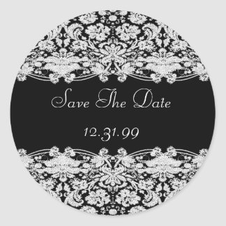 Save The Date Sticker-Personalizable Text Classic Round Sticker