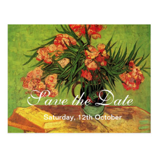 Save the date. Still Life Vase with Oleanders and Post Cards