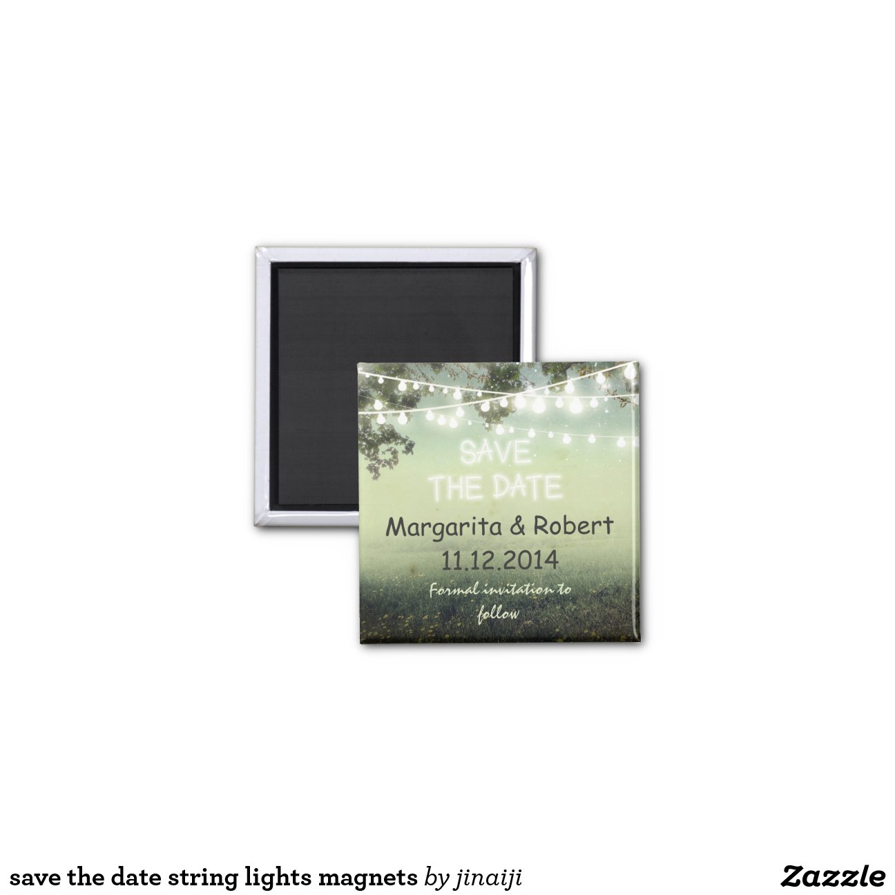 save the date string lights magnets magnets Zazzle