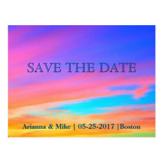 Save the Date | Sunset Postcard Announcement Card