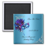 Save The Date Sweet 16 Masquerade Blue