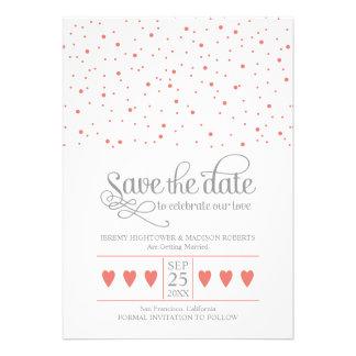 Save The Date Sweet Confetti Personalized Invite