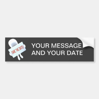 SAVE THE DATE TEMPLATE - Customize Bumper Sticker