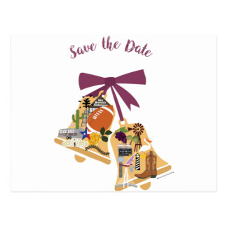 Save the Date Texas Wedding Bells Postcards