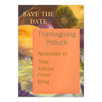 Save the Date Thanksgiving Magnet Invitation Magnetic Invitations