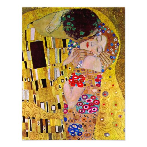 Save the Date! The Kiss by Gustav Klimt Personalized Invite
