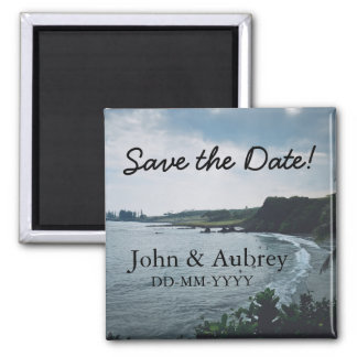 Save the Date Tropical Destination Beach Wedding Magnet