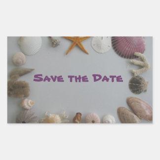 Save the Date/Tropical Destination Sticker