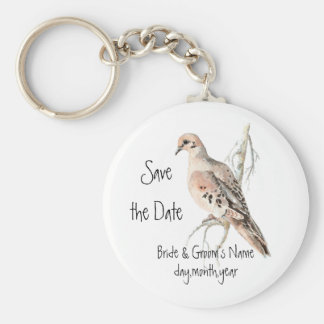 Save the Date, TurtleDove, Bird Wedding Keychain