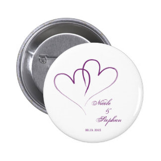 Save The Date - Two hearts intertwined 2 Inch Round Button